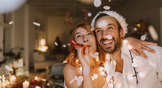 Couple celebrating the holiday